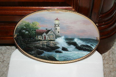 Thomas Kinkade HOPE'S COTTAGE #1 FIRST OVAL Scenes of Serenity Collection COA