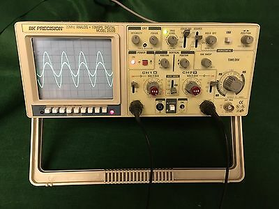 BK Precision 2522B, 20 MHz Analog + Digital Oscilloscope, Tested