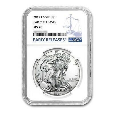 2017 $1 Silver American Eagle MS70 NGC