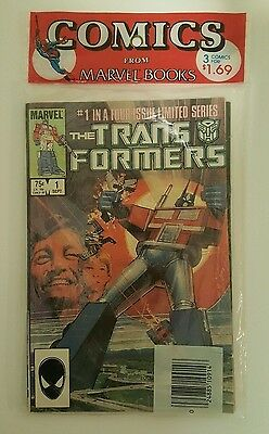Transformers #1-3 Factory Sealed 3 Pack Marvel 1984 Near Mint Books