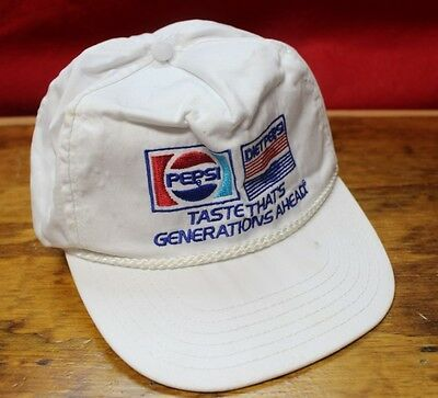 """Vintage Pepsi """"TASTE THAT'S GENERATIONS AHEAD"""" Embroidered Ball Cap Hat"""