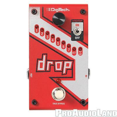 DigiTech Drop Tune Polyphonic Pitch Shifter Effects Pedal with Power Supply NEW
