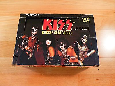 1978 Donruss Kiss Series 1  Unopened  Wax Pack  Aucoin  From Wax Box Pictured