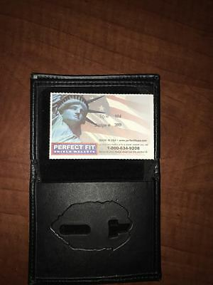 Fire Department Firefighter Perfect Fit Badge Wallet Style 104 Cut 399