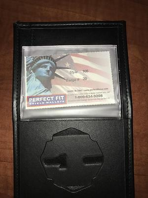 Fire Department Firefighter Perfect Fit Badge Wallet Style 105 Cut 20