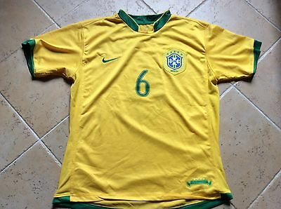 Maillot foot  rare Nike  Bresil R.CARLOS taille M