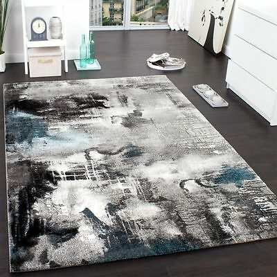 Large Rug Modern Carpets Small Large Size Living Room Quality Rugs Grey Blue New