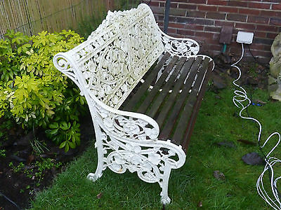 Very Old Cast Iron And Wood Garden Seat