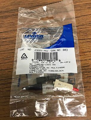 Leviton 49884-MSC Multimode SC Thread-Lock Fiber Connector