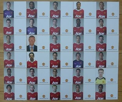 2010-11 Unsigned Man Utd Club Cards - Individually Priced