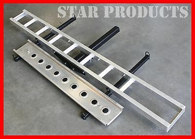 Aluminium 400lbs Motorcycle Carrier Dirt Bike Tow Bar Hitch FRONT & REAR TIE OFF