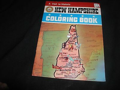 Old Vintage 1973 New Hampshire NH Coloring Book