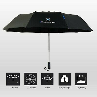 Premium Quality BMW Umbrella Golf Automatic Genuine Designer Black Red Brolly