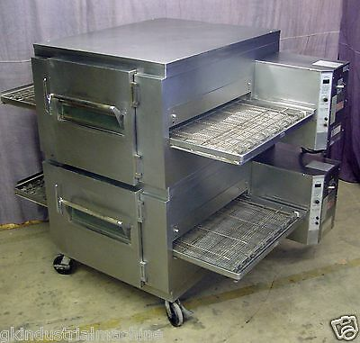 Lincoln Impinger 1450 Gas Double Stack Conveyor Pizza Oven