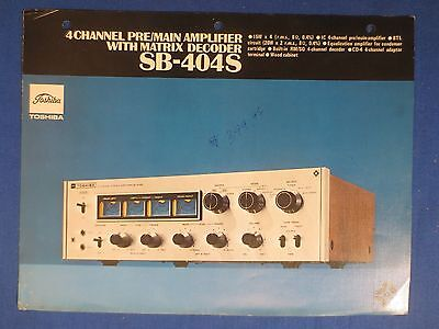 Toshiba Sb-404S 4 Channel Amp Sales Brochure Factory Original The Real Thing