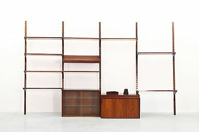 Danish Rosewood Wall Shelf System by Poul Cadovius for Cado Midcentury