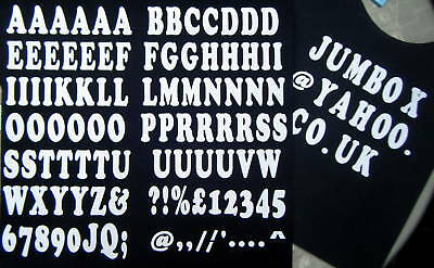 iron on transfer white 35mm.A-Z LETTERING and NUMBERS +emblems for fabric