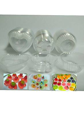 100 Disposable Cups Clear Plastic Jelly Container Heart Circle Flower  Mini