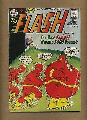 Flash 115 (our strict G-) 1960 Silver Age 1st Trickster! Elongated Man (c#12323)