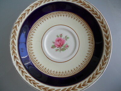 Crown Ducal China Saucers Made in England Floral Vintage EUC