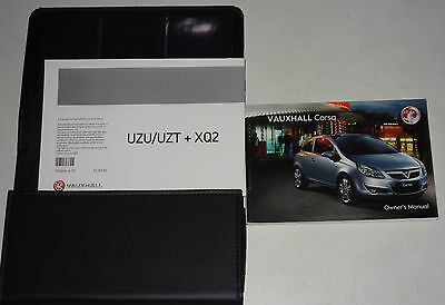 GENUINE Vauxhall Corsa D INSTRUCTION Manual Book Wallet 2007 - 2011