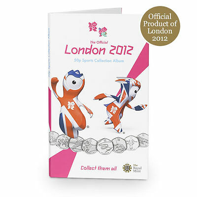 Empty Official London 2012 Olympics 50p Coin Album - unused