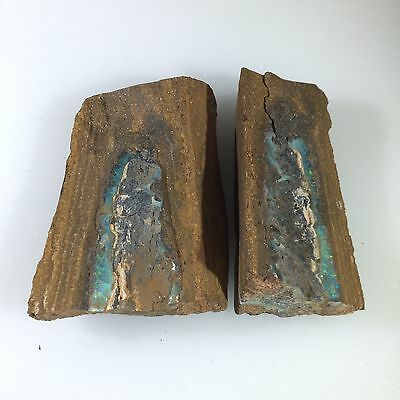 Australian Boulder Opal LAPIDARY ROUGH SPECIMEN SPLIT by Smart Opals