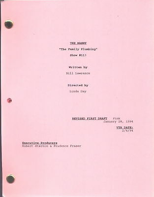 """THE NANNY show script """"The Family Plumbing"""""""