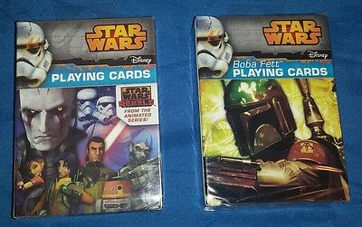 2x Star Wars Playing Cards both different free shipping