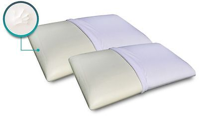 Luxury Pair Of Memory Reflex Foam Orthopaedic Extra Support Bed Pillow