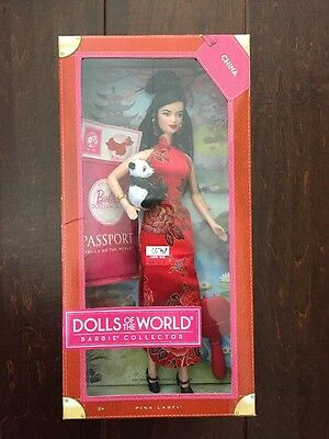 2011 Collector Barbie Doll China Dolls Of The World,Pink Label, MISB