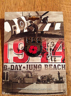 1944 Canadian D Day Pin On Card