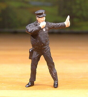 Detailed Traffic Cop Police People Pewter Metal Figure O / S Scale Train Layout