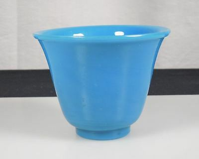 Chinese Blue Peking Glass Wine Cup