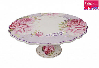 Pink Rose Cake Plate 30.5cm Diameter Fine Bone China Collectable Gift CW369
