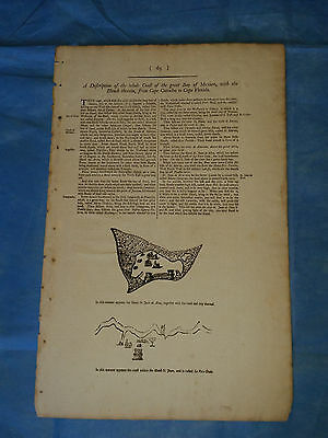 c1750 - Sailing Directions, Gulf of Mexico; inset map Veracruz, Mexico