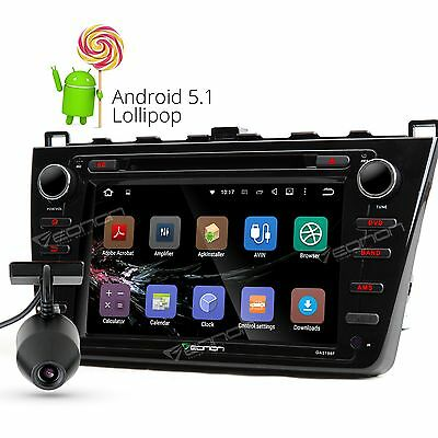 "New Eonon 8"" Android 5.1 Car DVD Player Radio BT DAB+ GPS Dashcam For Mazda 6 F"