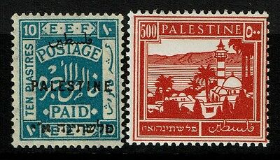 Palestine 2 stamps, Mint Lightly Hinged - Lot 112216