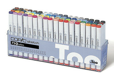 Copic Sketch Marker 72 Color Set A   Artist Markers -Express Shipping