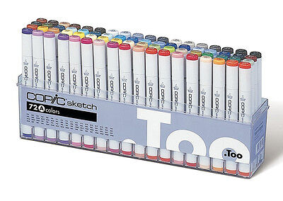 New COPIC Marker 72 Piece Sketch Set A Artist Markers Anime Comic - in stock