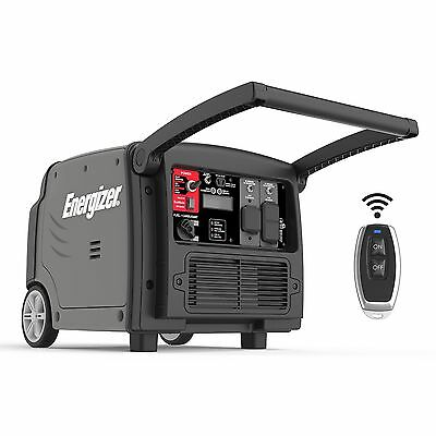 Energizer EZV3200 3200W Portable Gas-Powered Inverter Generator with Electric...