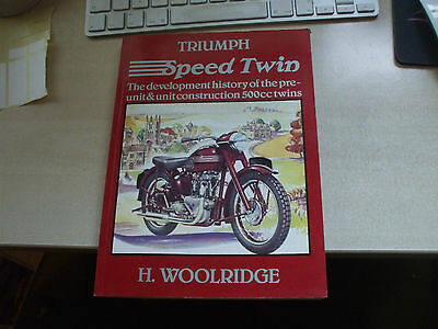 Triumph Classic Motorcycle 500cc Speed Twin Reference Book Manual Woolridge unit