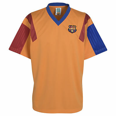 Barcelona 1992 Away Mens Retro Shirt Short Sleeve T Shirt Tee Top Football