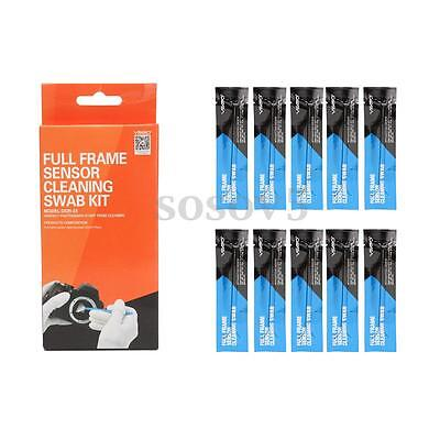 VSGO Full Frame 10pcs Sensor Cleaning Swab Kit 24mm For Canon DSLR Camera DC581