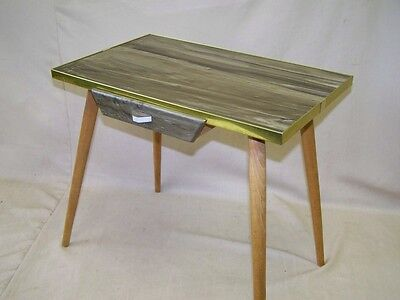 Old DDR Side Table, Flower stand Iconic Retro Design 1960s Jahre Table