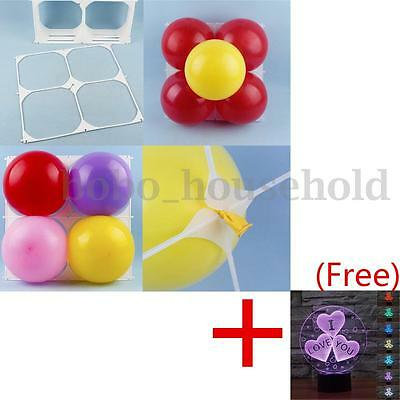 50 Pcs Square 4 Grid Modeling Wedding Party Balloon Plastic Tool Wall Decoration