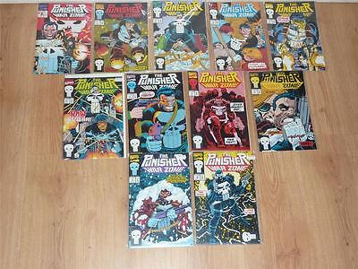Punisher War Zone #1 to #11 Complete Run - Marvel 1992 - VFN- to NM- 11 Comics