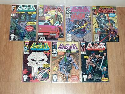 Punisher #34 to #40 - Marvel 1990 - VFN- to NM - Jigsaw Puzzle Full Story