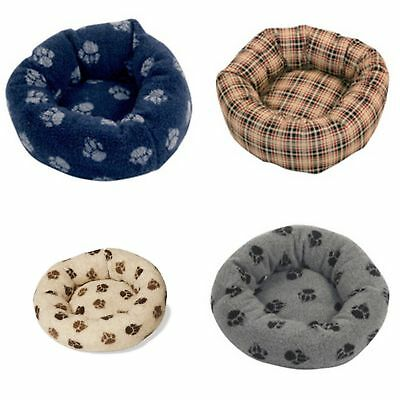 Danish Design Pet Products Fleece Paw Print Cushion Bed