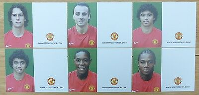 2008-09 Unsigned Man Utd Club Cards - Individually Priced - Exceptionally RARE